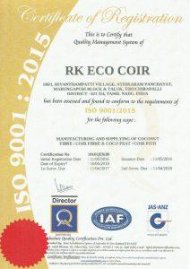RK Coir ISO90012015